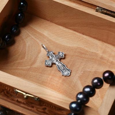 Крест нательный №1, цвет серебристый, алюминий, 20х32 мм