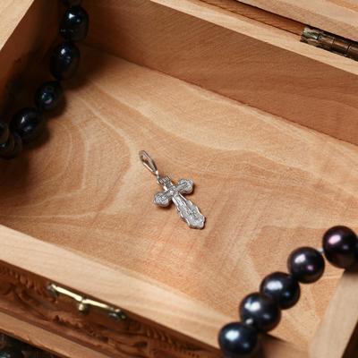Крест нательный №3, цвет серебристый, алюминий, 10х32 мм
