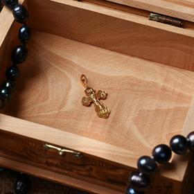 Крест нательный №4, цвет золотой, алюминий, 15х32 мм