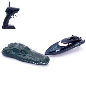 Катер радиоуправляемый «Крокодил», 2 в 1, работает от аккумулятора