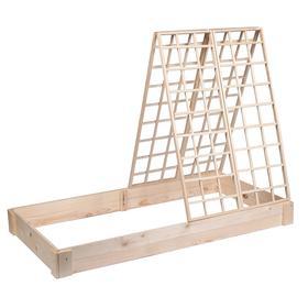 Грядка деревянная, 200 × 100 × 22 см, со шпалерой h = 140 см, Greengo