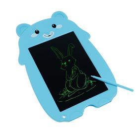 "Планшет для рисования и заметок LuazON ""Медвежонок"", 8.5"", функция блокировки, синий"
