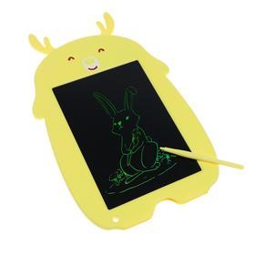 """Планшет для рисования и заметок LuazON """"Олененок"""", 8.5"""", функция блокировки, желтый"""