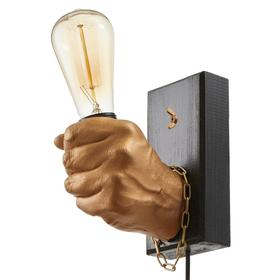 "Бра ""Левая рука кулак"" E27 60Вт золото 18х18х10 см"