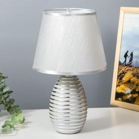 Лампа настольная 16609/1SL E14 40Вт серебро 20х20х33 см