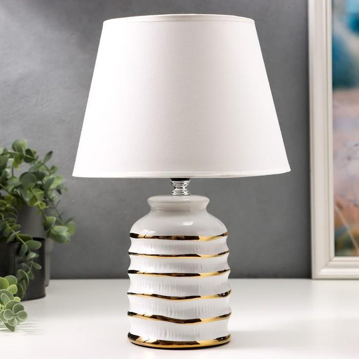 Лампа настольная 16610/1WT E14 40Вт бело-золотой 20х20х32,5 см - фото 597198
