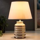 Лампа настольная 16610/1WT E14 40Вт бело-золотой 20х20х32,5 см - фото 597199