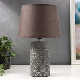 Лампа настольная 16625/1 E14 40Вт серый 22х22х36 см