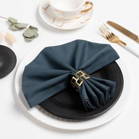 Салфетка столовая Этель 40*40 см, цв. темно-серый, 100% хлопок, саржа, 250гр/м2