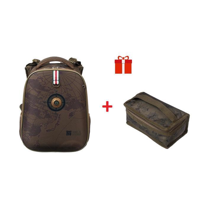 Рюкзак каркасный Hatber Ergonomic Classic 37 х 29 х 17, с термосумкой, TRAVEL - фото 846471