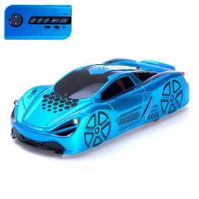 Anti-Government Machine Racer, Radio Control, Battery, Rides on Walls, Blue Color