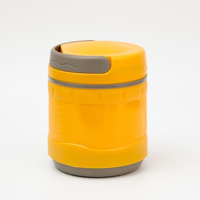 Термос для еды 1200 мл, DXС-1200-2, пластиковый с колбой из нержавеющей стали , микс - фото 9215790