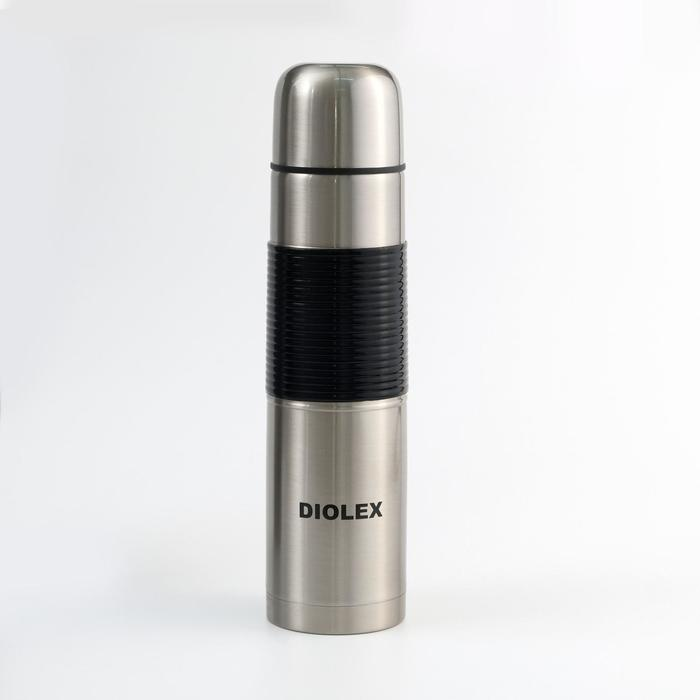 Термос Diolex 1000 мл c резиновым держателем DXR-1000-1 - фото 9215799