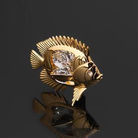 """Сувенир """"Рыбка"""" с 4 кристаллами Сваровски, 6х4х5,5 см"""