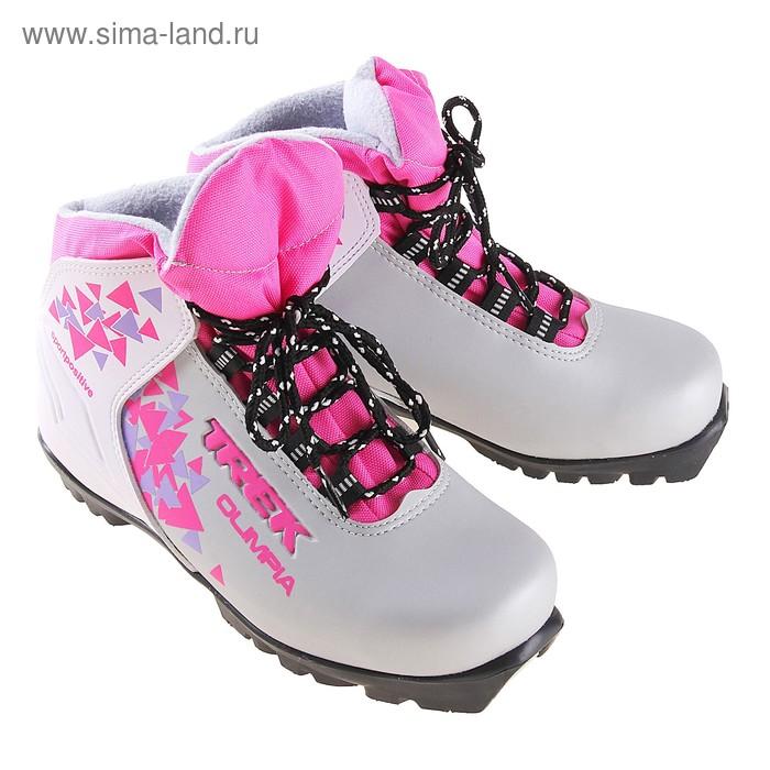 Ботинки лыжные TREK Olimpia NNN ИК, размер 41, цвет: серебристый