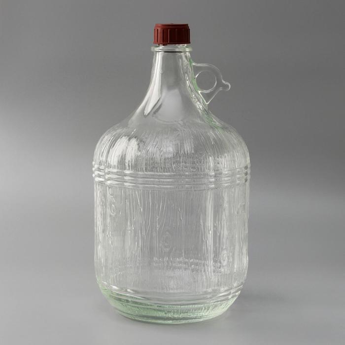 Бутыль стеклянная «Дария», 5 л, с крышкой - фото 9215989