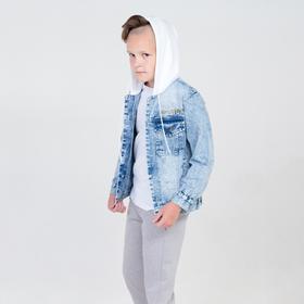 Jacket denim for a boy, blue color, height 164 cm