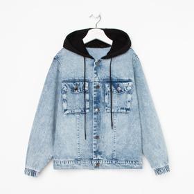 Jacket denim for a boy, blue color, height 158 cm