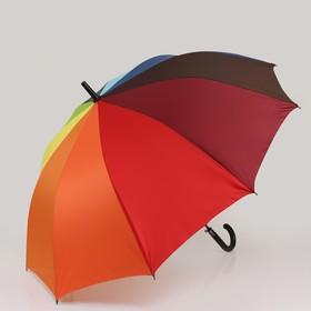 Зонт - трость полуавтоматический «Радуга», 10 спиц, R = 57 см, разноцветный