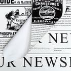 """Пленка матовая, """"Цветочные новости"""",  58*58 см, белый - фото 9216186"""