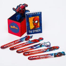 """Подарочный набор """"Супергерой"""", Человек паук (органайзер , блокнот, набор открыток-закладок"""