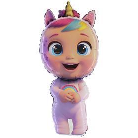 """Шар фольгированный 14"""" «Кукла» Cry Babies, мини-фигура"""
