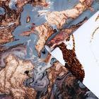 """Бумага глянцевая """"Мрамор"""", серый-бронзовый, 50 х 70 см - фото 9216352"""