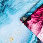 "Бумага упаковочная глянцевая ""Мрамор"", винный-синий, 50 х 70 см - фото 9216357"