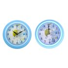 Часы настенные круглые мини, голубые