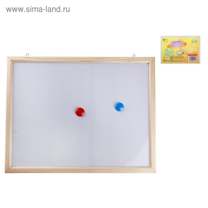 Доска для рисования, односторонняя, магнитно-маркерная, с магнитами