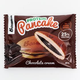 Панкейк Bombbar неглазированный с начинкой «Шоколадный крем», 40 г