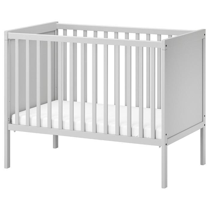 Кроватка детская СУНДВИК, 60x120 см, цвет серый - фото 9216442