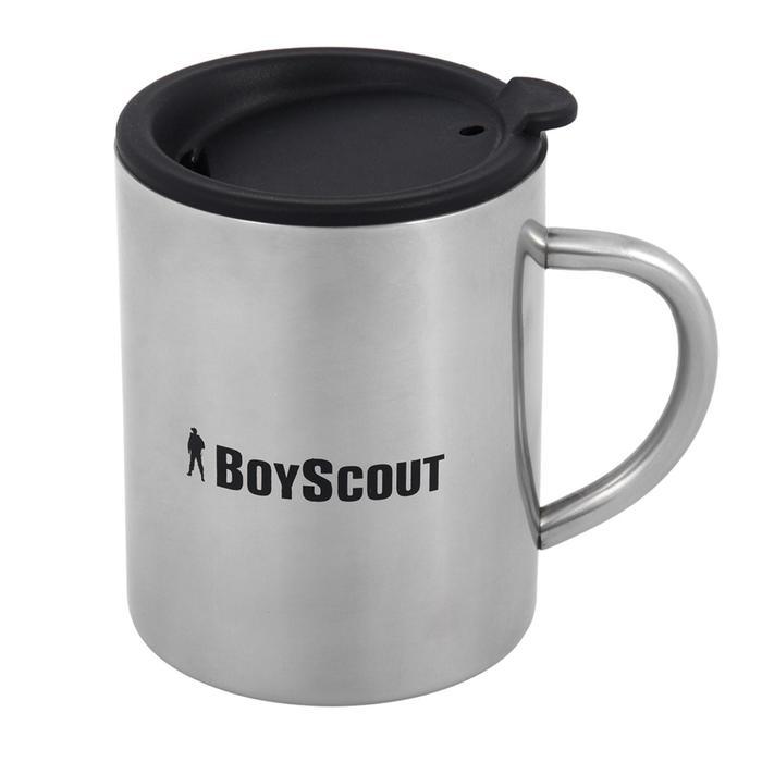 Термокружка BOYSCOUT с крышкой, 360 мл, нержавеющая сталь - фото 9216480