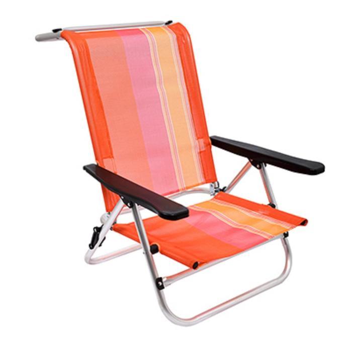 Кресло BOYSCOUT ORANGE, на низких ножках, 5 положений,  алюминиевый каркас, 79x62x75 см - фото 9216487