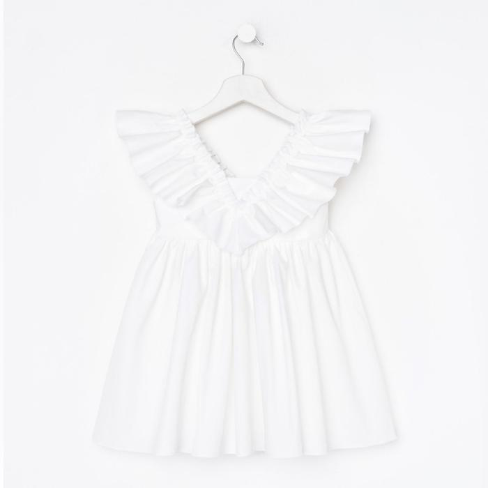 Платье детское KAFTAN «Бабочка», р. 32 (110-116), белый - фото 849841