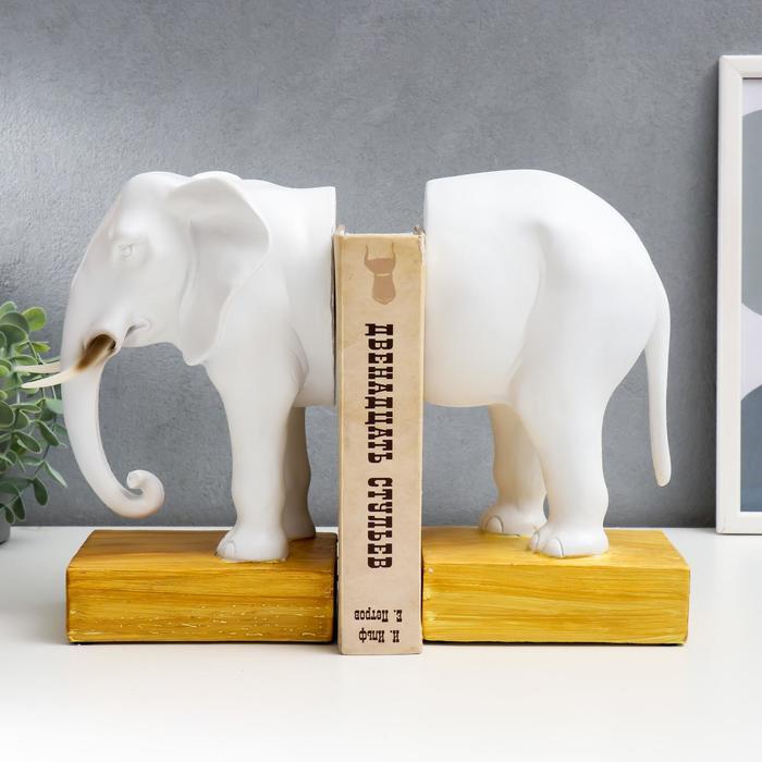 """Держатель для книг """"Белый слон"""" набор из 2 шт 35х11х25 см - фото 9216635"""