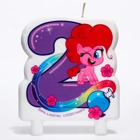 Свеча в торт цифра 2, Little Pony