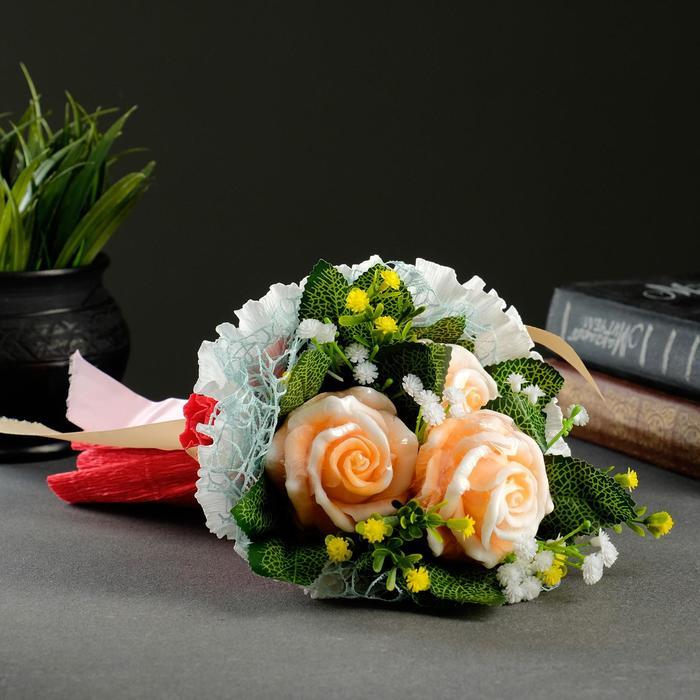 """Фигурное мыло """"Три цветка"""" - фото 9216874"""