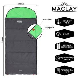 Спальник 2-слойный, L одеяло+подголовник 210 x 100 см, camping comfort summer, таффета/таффета, +5°C