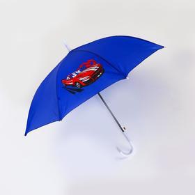 Зонт детский полуавтоматический «Красная машина» d=90 см