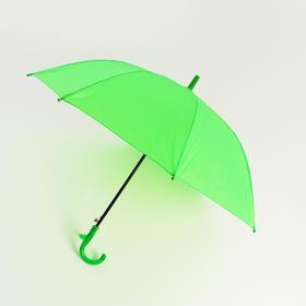 Зонт детский полуавтоматический d=86 см, цвет зелёный