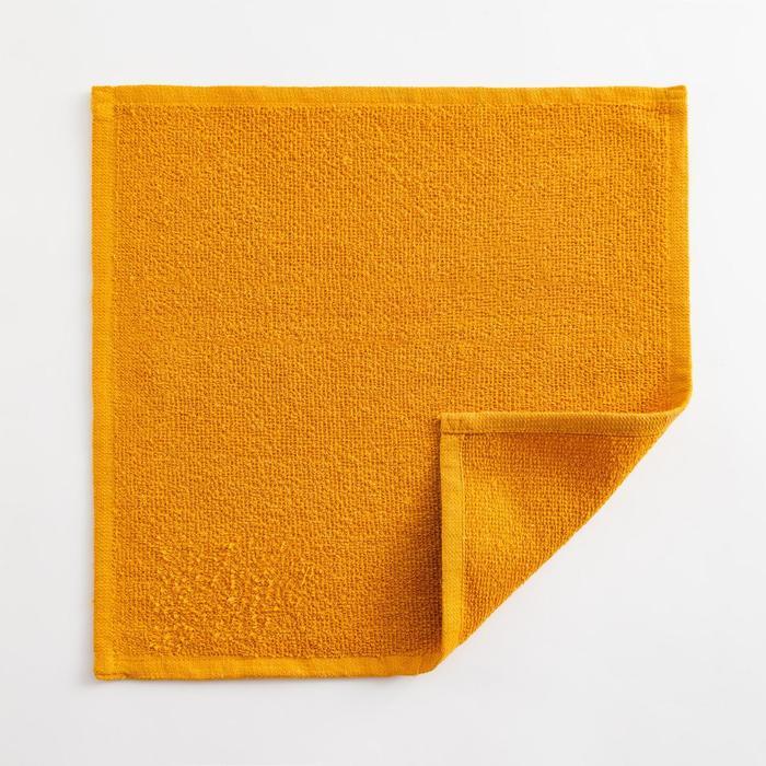 Полотенце махровое Экономь и Я 30х30 см, цв. горчичный, 100% хл, 260 гр/м2 - фото 9217065