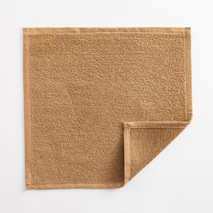 Полотенце махровое Экономь и Я 30х30 см,  цв. крем-брюле, 100% хл, 260 гр/м2 - фото 9217074