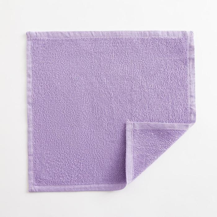 Полотенце махровое Экономь и Я 30х30 см, цв. лиловый, 100% хл, 260 гр/м2 - фото 9217080