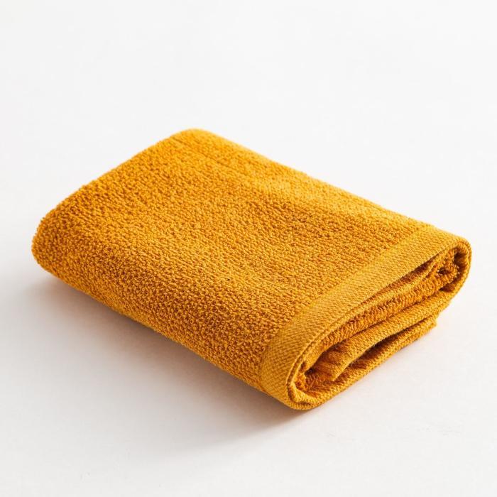 Полотенце махровое Экономь и Я 50х80 см, цв. горчичный, 100% хл, 260 гр/м2 - фото 9217159