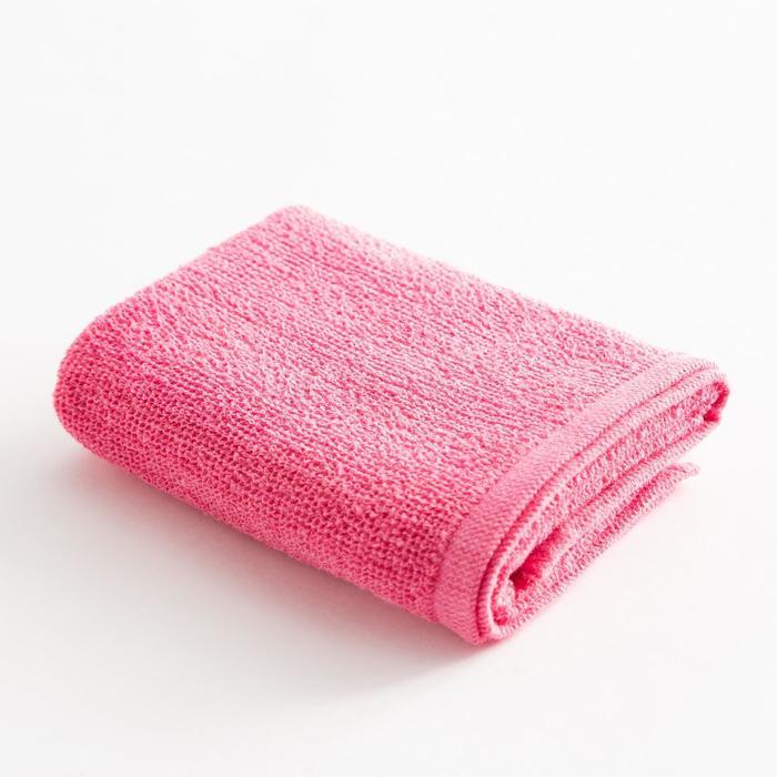 Полотенце махровое Экономь и Я 50х80 см, цв. розовый фламинго, 100% хл, 260 гр/м2 - фото 9217180