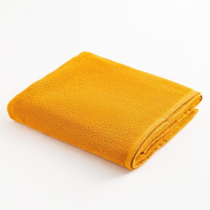 Полотенце махровое Экономь и Я 70х120 см, цв. горчичный, 100% хл, 260 гр/м2 - фото 9217189