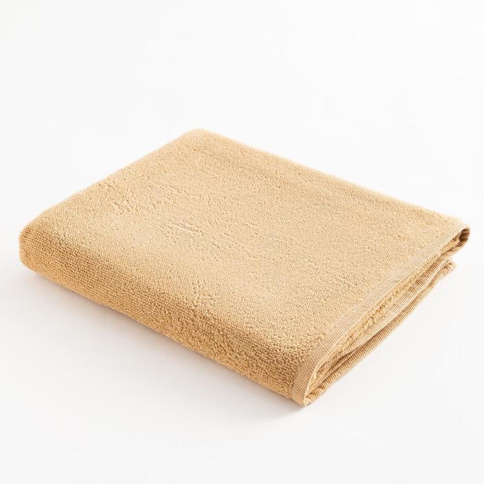 Полотенце махровое Экономь и Я 70х120 см, цв. карамельный, 100% хл, 260 гр/м2 - фото 9217192