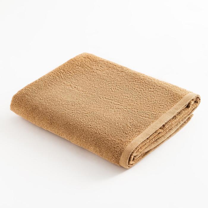 Полотенце махровое Экономь и Я 70х120 см, цв. крем-брюле, 100% хл, 260 гр/м2 - фото 9217198