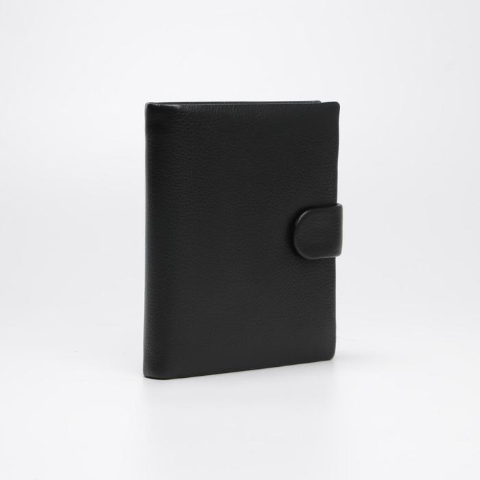 Обложка для автодокументов и портмоне, цвет чёрный - фото 850717